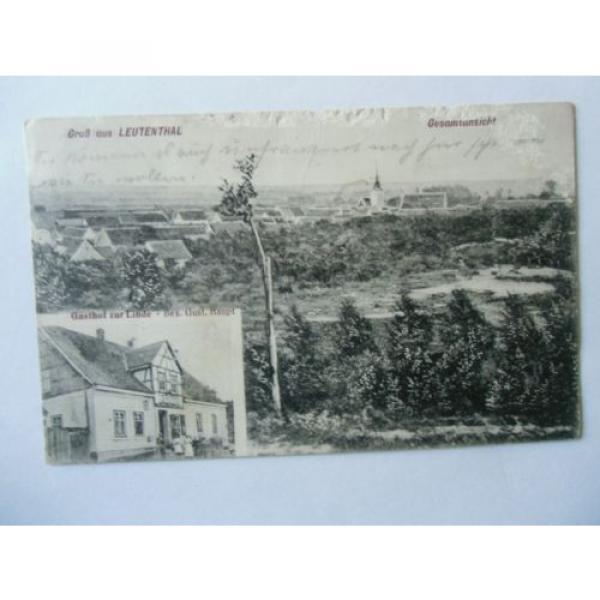 Ansichtskarte Leutenthal Gesamtansicht 1913 Gasthof zur Linde #1 image