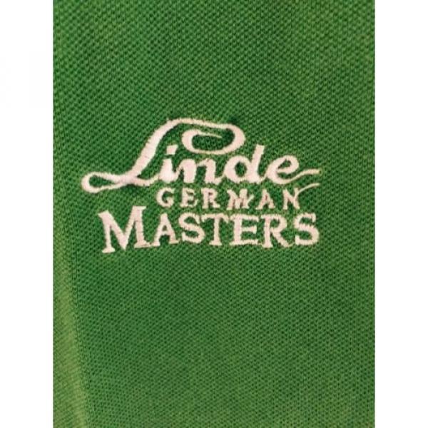 Lacoste Poloshirt Größe 44 Linde German Masters Tunier Stick Top ZUSTAND SELTEN #2 image