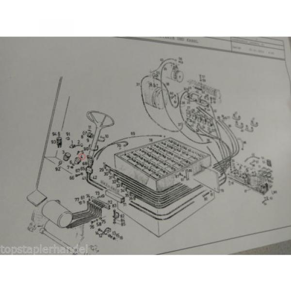 Entladeanzeiger 80V  Stapler E20/25/30 Elektron 513452 Linde Nr. 9460717 Baumasc #3 image