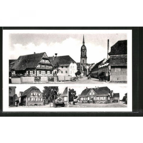alte AK Schuttern, Hauptstraße, Gasthaus zur Linde, Rathaus #1 image