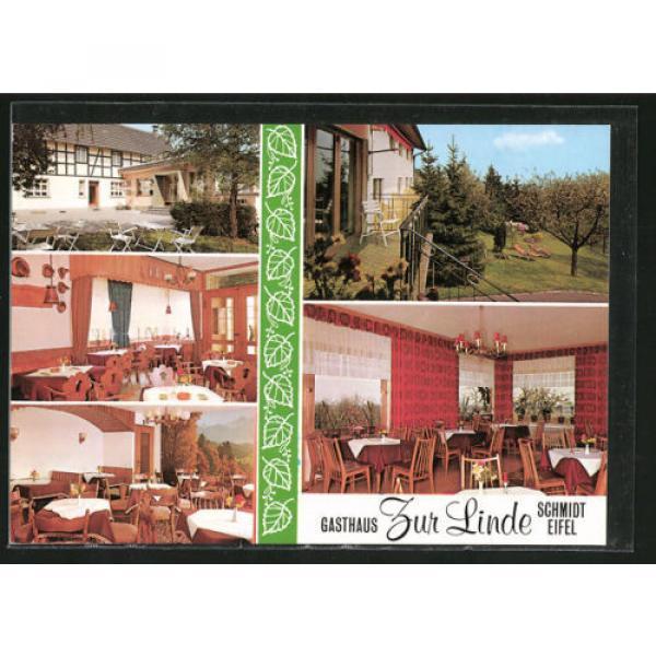 alte AK Nideggen-Schmidt, Gasthaus zur Linde, Innenansichten #1 image