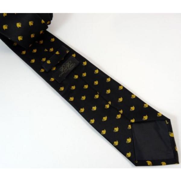 Teapot Tie Linde Lane Black Gold Coffee Shop Waiter Necktie #3 image