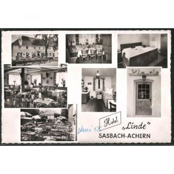 tolle AK Sasbach-Achern, Hotel Linde, Außenansicht u. Inneres, Bes. Fam. Jörend #1 image