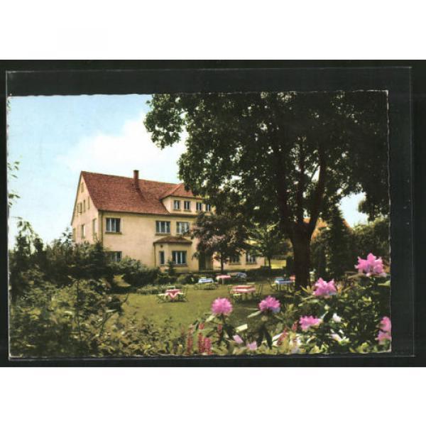 alte AK Steinbergen, Hotel zur Linde aus dem Garten gesehen #1 image