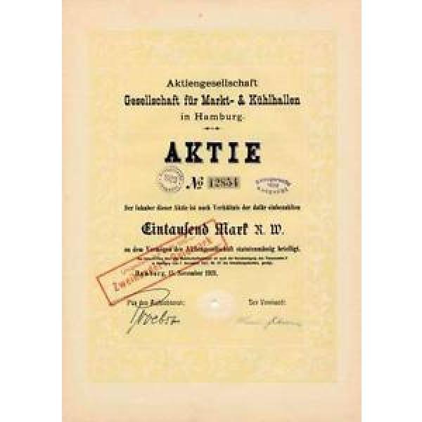 AG Gesellschaft für Markt-& Kühlhallen Hamburg hist Aktie 1921 Linde MuK München #1 image