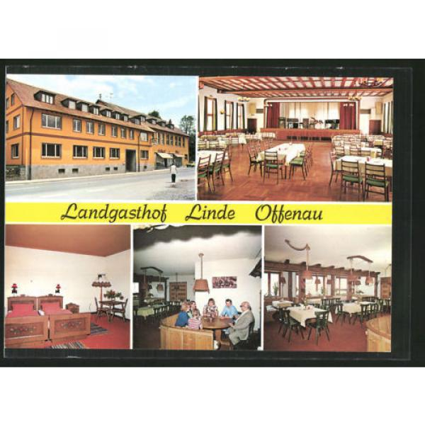 tolle AK Offenau, Landgasthof Linde, Außenansicht u. Inneres, Bes. W. Sochor #1 image