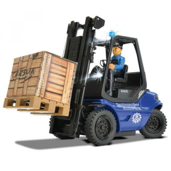 Carson Blue Forklift Linde H 40 D + Pallet Cargo RC Model Car 1:14 Genuine New #2 image