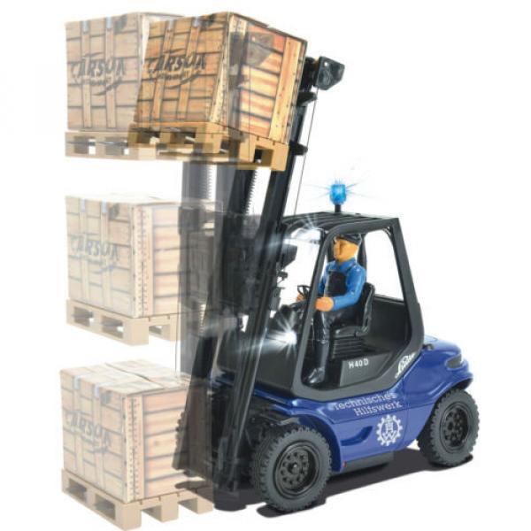 Carson Blue Forklift Linde H 40 D + Pallet Cargo RC Model Car 1:14 Genuine New #5 image