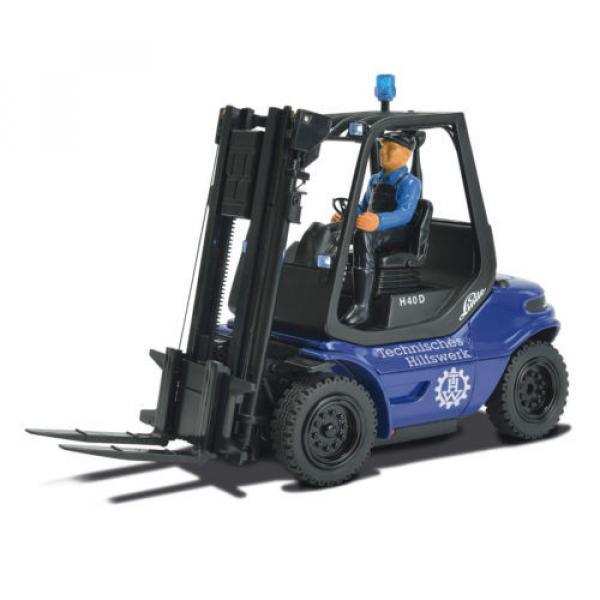Carson Blue Forklift Linde H 40 D + Pallet Cargo RC Model Car 1:14 Genuine New #6 image