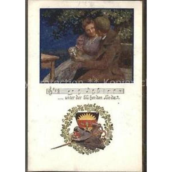 11550925 Liederkarte Wappen bluehender Linde Kuenstlerkarte Musik #1 image
