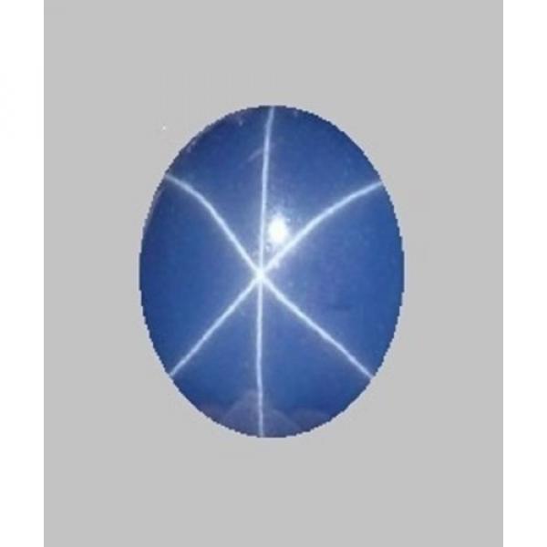 UNSIGNED LOOSE UNMTD VINTAGE LINDE LINDY CORNFLOWER BLUE STAR SAPPHIRE CREATED #1 image