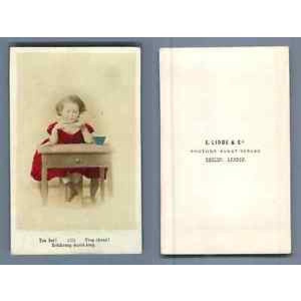 E. Linde & Co. Trop chaud ! CDV vintage albumen Tirage albuminé aquarellé  6 #1 image