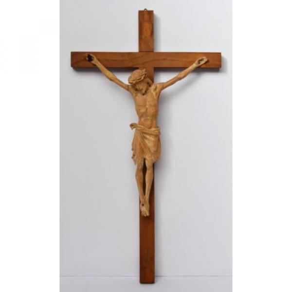 Kruzifix Christuskreuz Kreuz Holz Linde handgeschnitzt 19./20. Jh. 58 x 32 cm #1 image