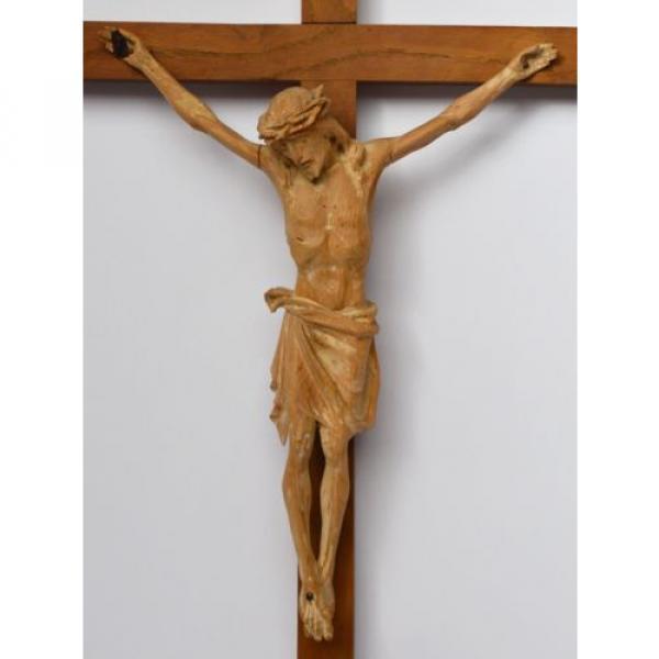 Kruzifix Christuskreuz Kreuz Holz Linde handgeschnitzt 19./20. Jh. 58 x 32 cm #2 image