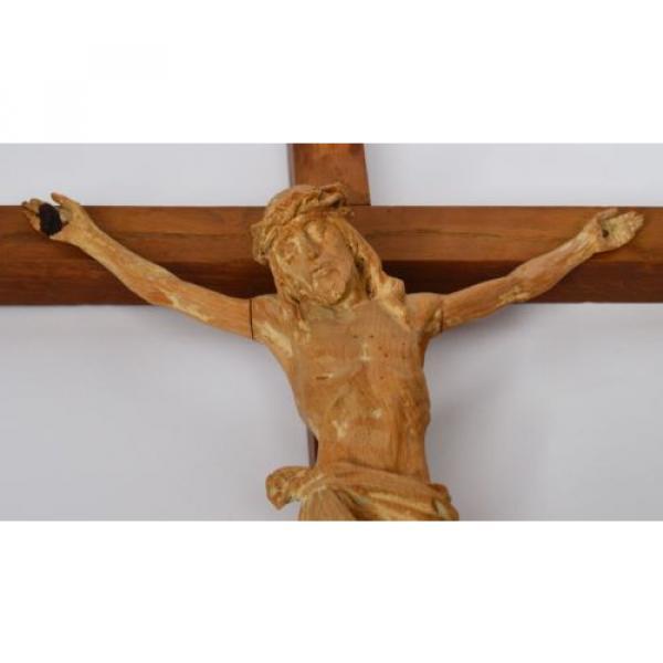 Kruzifix Christuskreuz Kreuz Holz Linde handgeschnitzt 19./20. Jh. 58 x 32 cm #3 image