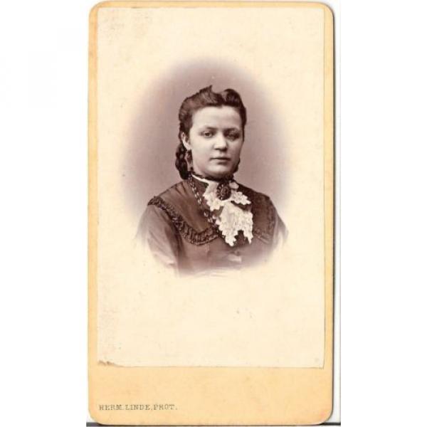 Herm. Linde CDV photo Damenportrait - Lübeck 1870er #1 image