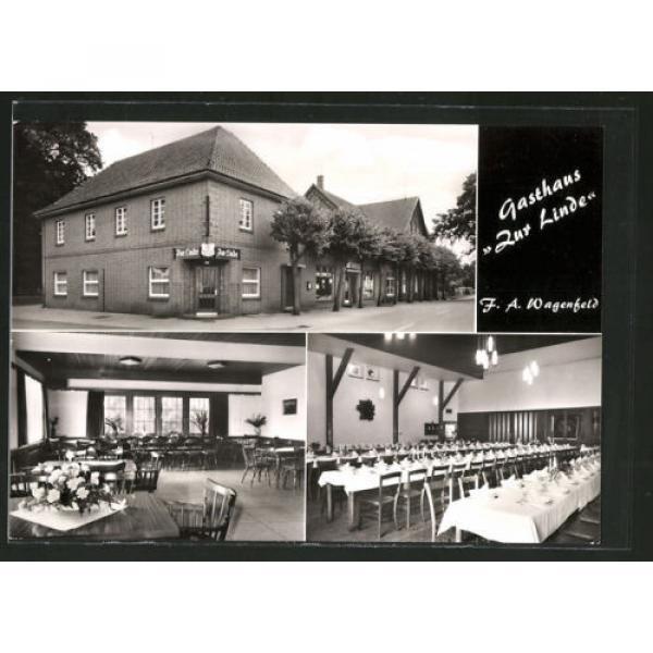 AK Rahden-Varl, Gasthaus zur Linde v. F. Wagenfeld, Außen- u. Innenansichten #1 image