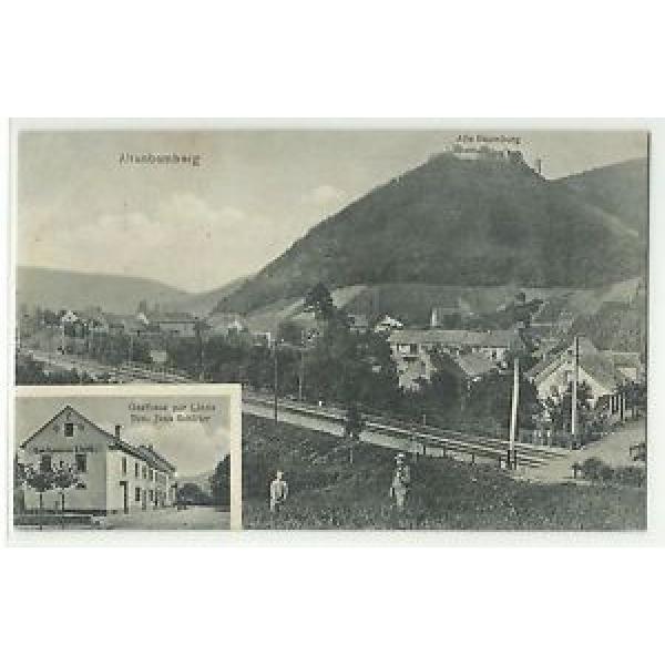 Altenbamberg Gasthaus zur Linde & Bahnübergang 1910 #1 image