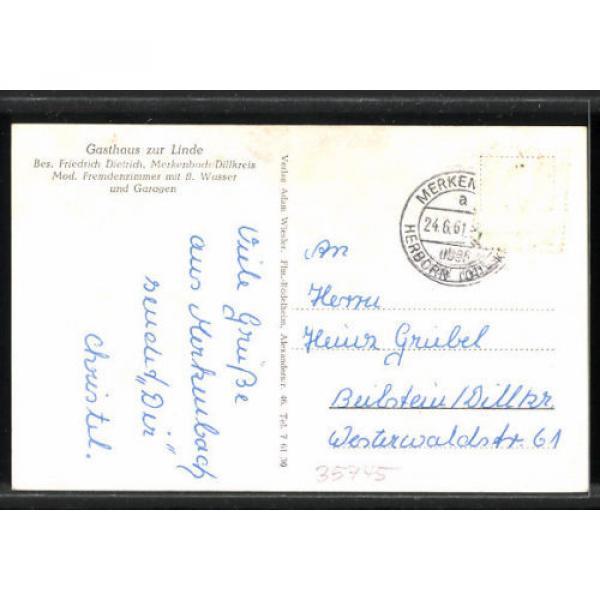 alte AK Merkenbach, Gesamtansicht, Gasthaus zur Linde 1961 #2 image