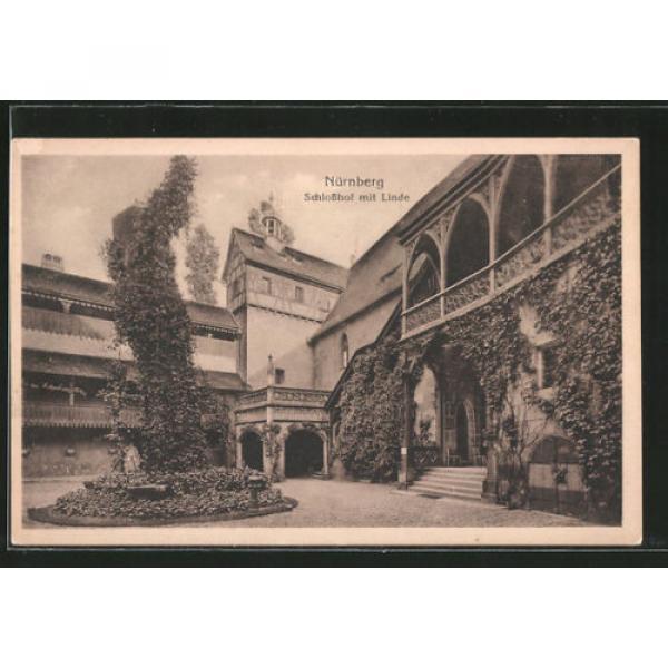 tolle AK Nürnberg, Schloßhof mit Linde #1 image