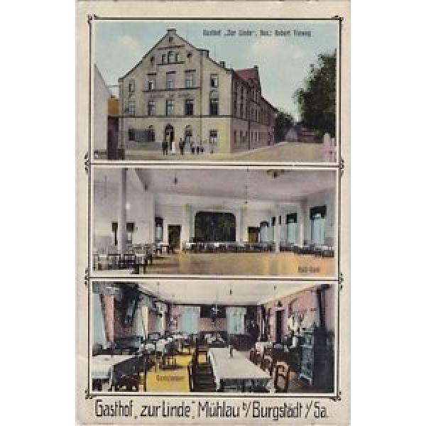 """uralte AK Gasthof """"Zur Linde"""" Mühlau bei Burgstädt, Hartmannsdorf, Feldpost #1 image"""
