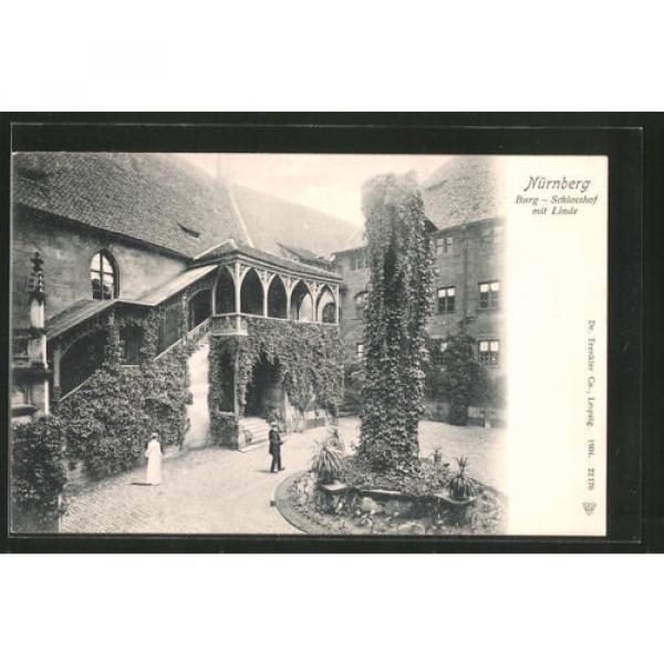 tolle AK Nürnberg, Partie im Schloßhof mit Linde #1 image