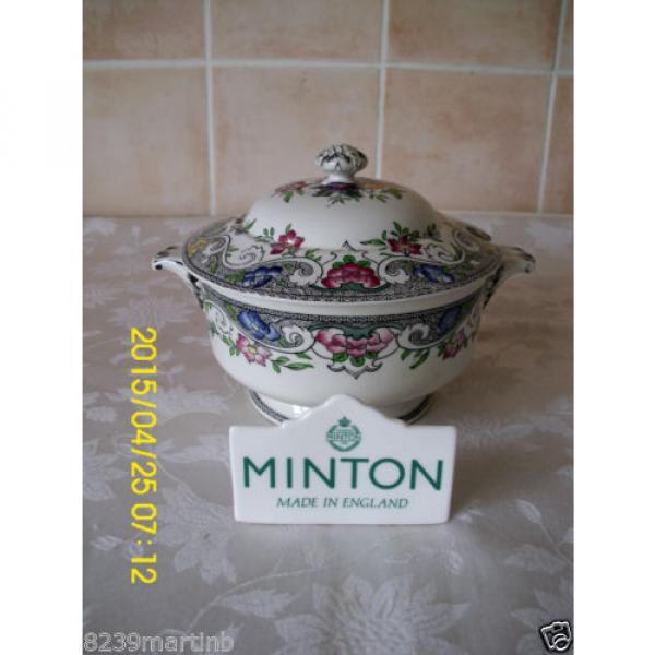 Minton M & Co Linde Pattern Floral Lidded Sauce Tureen #1 image