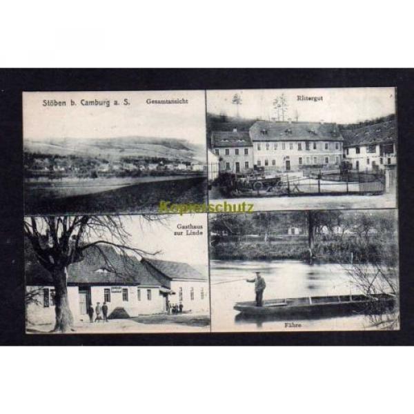 113924 AK Stöben bei Camburg um 1910 Rittergut Gasthaus zur Linde Saale Fähre #1 image