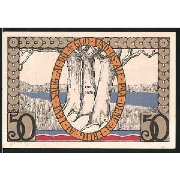 Notgeld Augustenburg 1920, 50 Pfennig, Stadtwappen, alte Linde #1 image