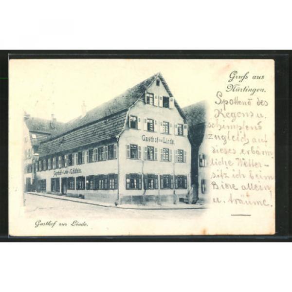 alte AK Nürtingen, Gasthof zur Linde v. G. Häfele 1899 #1 image