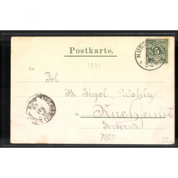 alte AK Nürtingen, Gasthof zur Linde v. G. Häfele 1899 #2 image