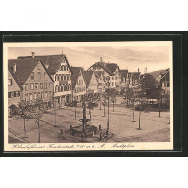 alte AK Freudenstadt, Marktplatz mit Hotel Linde #1 image