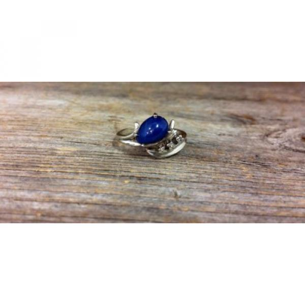 14k White Gold Linde Star Sapphire Ring with Diamonds #1 image