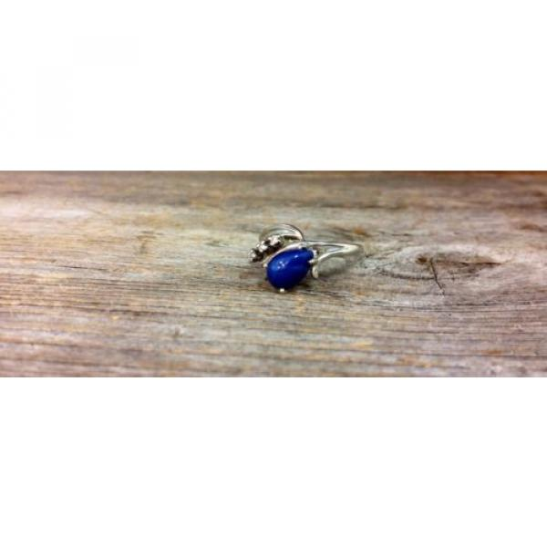 14k White Gold Linde Star Sapphire Ring with Diamonds #2 image