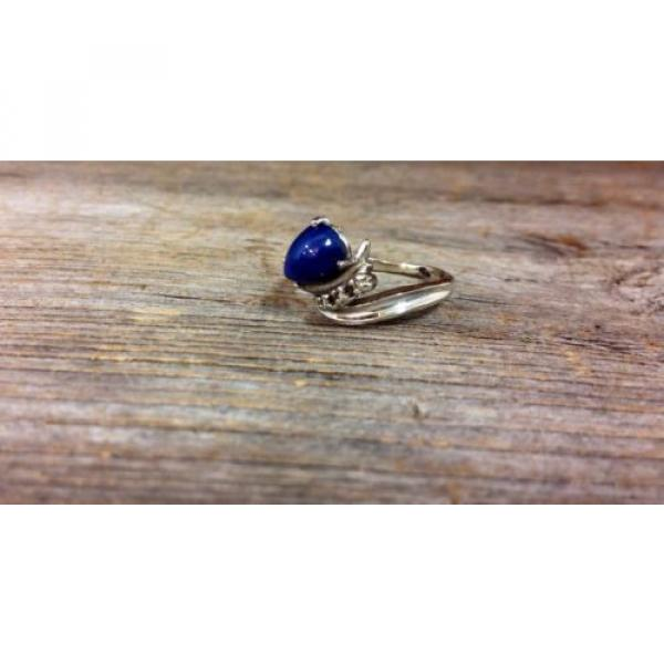 14k White Gold Linde Star Sapphire Ring with Diamonds #3 image