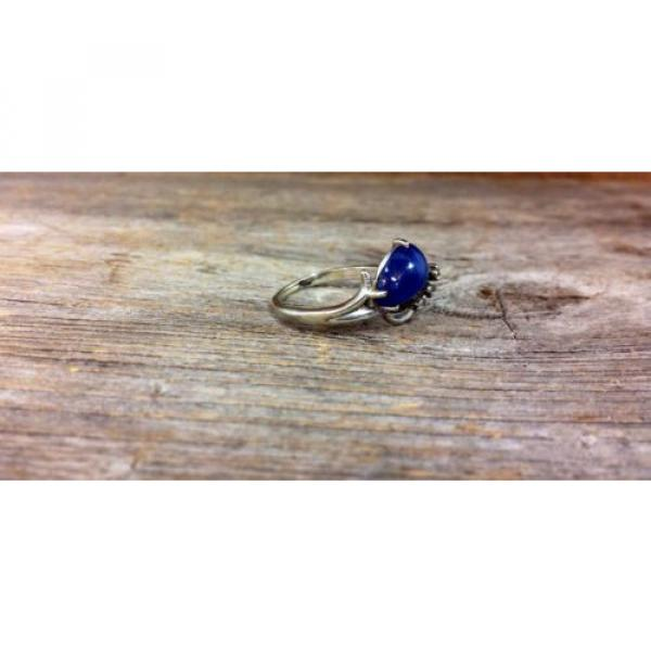 14k White Gold Linde Star Sapphire Ring with Diamonds #6 image