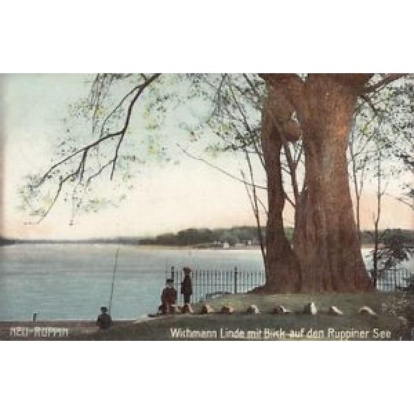 AK GRUSS AUS NEU RUPPIN KR OSTPRIGNITZ WICHMANN LINDE MIT RUPPINER SEE 1906 col. #1 image