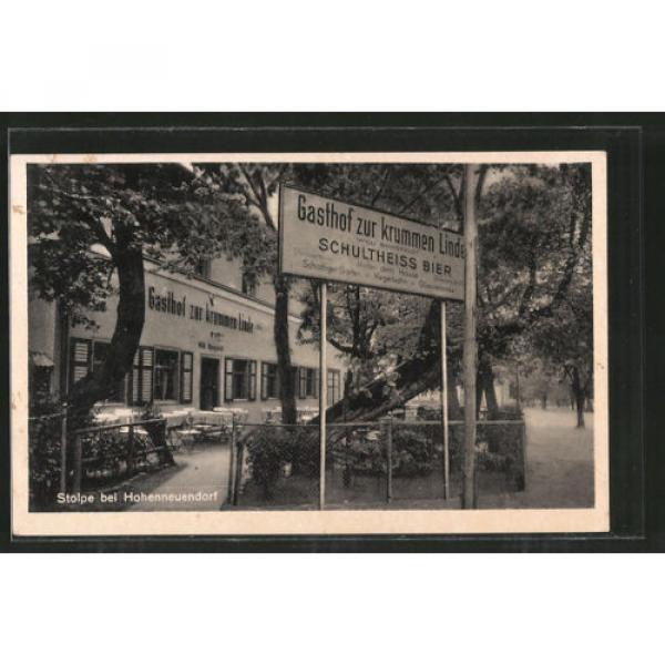 alte AK Stolpe, Gasthof zur krummen Linde mit Kegelbahn 1941 #1 image