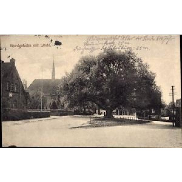 Ak Bordesholm in Schleswig Holstein, Straßenpartie mit Linde und Kirche - 933398 #1 image