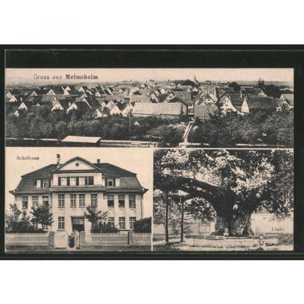 alte AK Meimsheim, Linde, Schulhaus, Ortspanorama #1 image