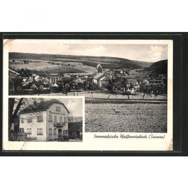 alte AK Pfaffenwiesbach, Gasthaus zur Linde, Ortsansicht #1 image