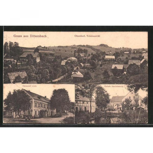 tolle AK Dittersbach, Merkels Geschäftshaus, Restaurant Linde #1 image