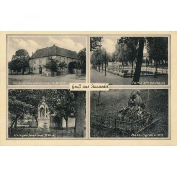 Ak, Gruß aus Strarsiedel, Gasthof zur Linde, Mehrbildkarte, 1939, (G) (0505) #1 image