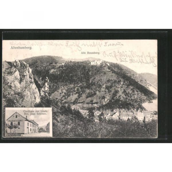 alte AK Altenbamberg, Gasthaus zur Linde v. J. Schitter, Alte Baumburg #1 image