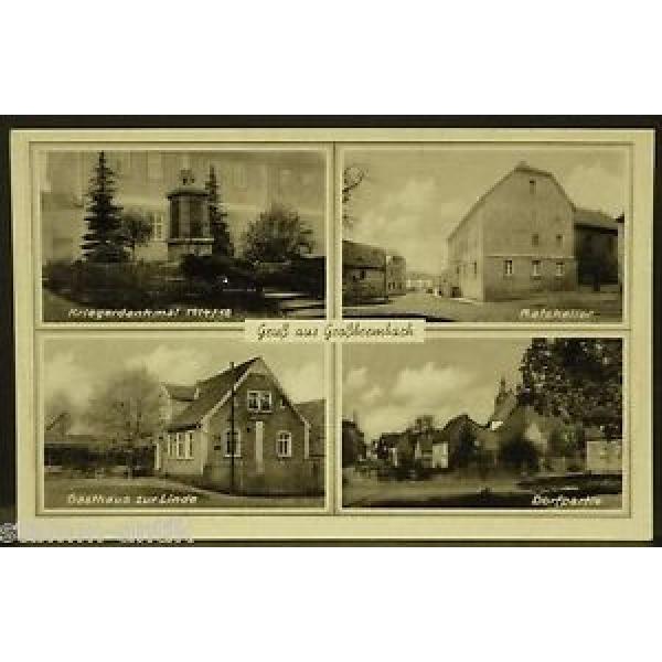 Großbrembach,Thür.,Ratskeller,Gasthaus zur Linde,Kriegerdenkmal 1914/18,alte Ak #1 image