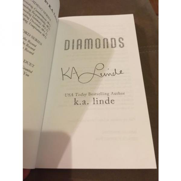 Diamonds by K.A. Linde (2015, Paperback, Signed) #3 image