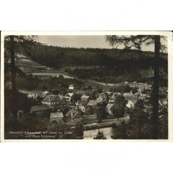 71325064 Sitzendorf Thueringen Teilansicht mit Hotel Zur Linde Haus Schoenberg S #1 image