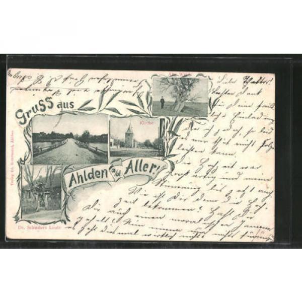 alte AK Ahlden, Kirche, Dr. Schusters Linde, Alte Weide 1902 #1 image