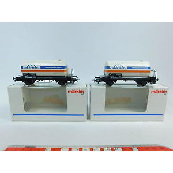 AW783-0,5# 2x Märklin/Marklin H0/AC 44510 Vagone cisterna/Carro merci Linde DB #1 image