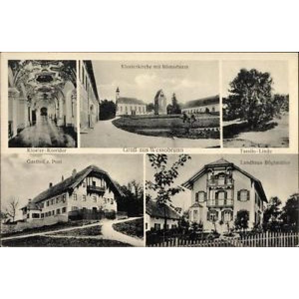 Ak Wessobrunn Oberbayern, Kloster, Römerturm, Tassilo Linde,... - 10056883 #1 image